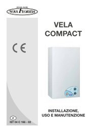 Libretto di istruzioni per la caldaia Vela Compact - Nova Florida