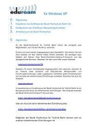 für Windows XP - Beuth Hochschule für Technik Berlin