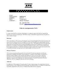 marketing advisory committee memo - APA - The Engineered