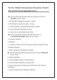 Part One: Multiple Choice Questions (50 questions, 70 marks) Note ...