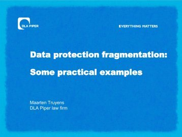 Data protection fragmentation: Some practical examples