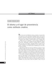 El idioma y el lugar de proveniencia como estímulo creativo