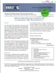 Defense Manufacturing Conference - Advanced Materials ...