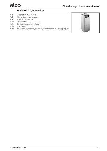TRIGON® S 3,8- 44,6 kW Chaudière gaz à ... - ELCO Belgium