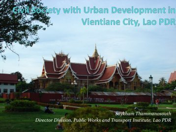 Civil Society and Urban Development in Vientiane City, Lao PDR ...