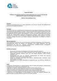 FICHE DE POSTE Professeur-coordinateur(rice) de la ... - Cipac
