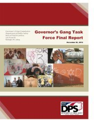 Governor's Gang Task Force Final Report - North Carolina ...