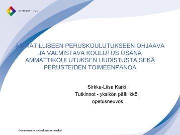 ammatilliseen peruskoulutukseen ohjaava ja valmistava ... - Edu.fi