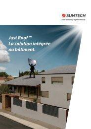 Just Roof ™ La solution intégrée au bâtiment. - Sunerg