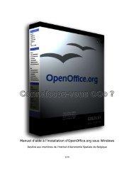 Prise en mains d'OpenOffice - Globenet