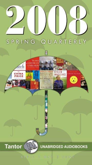 Tantor - Spring Quarterly 2008 - Tantor Media