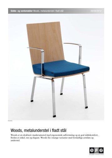 Woods, metalunderstel i fladt stål - EFG Bondo