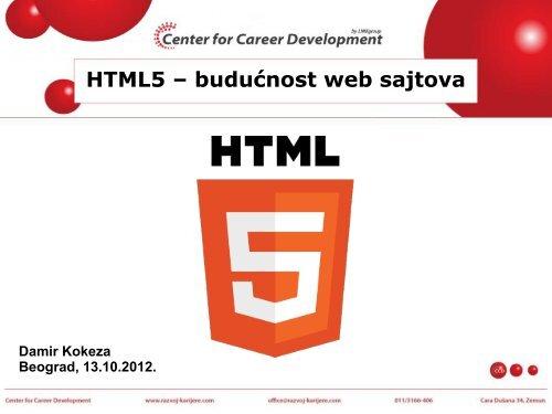 Prošlost, sadašnjost i budućnost HTML-a - Razvoj karijere