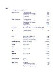 Prislist Prisliste gældende fra 1. januar 2010 Kister.(brænding) Hvid ...