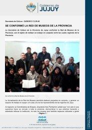 se conformó la red de museos de la provincia - Gobierno de la ...