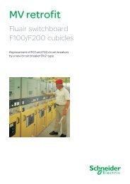 MV Retrofit F100 F200 - DV2 type - Schneider Electric