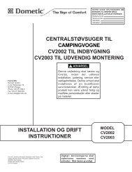 centralstøvsuger til campingvogne cv2002 til indbygning cv2003 til ...