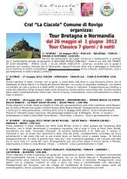 Tour Bretagna e Normandia - Comune di Rovigo