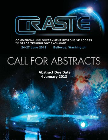 2013 CRASTE Call for Abstracts V5.indd
