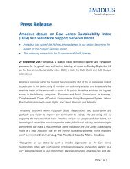 Amadeus debuts on Dow Jones Sustainability Index - Investor ...