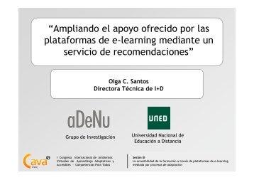 """""""Ampliando el apoyo ofrecido por las plataformas de e ... - Aves.edu.co"""