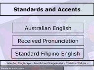 Standards and Accents Australian English Received Pronunciation ...