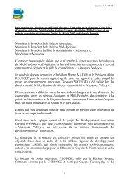 Monsieur le Président de la Région Aquitaine ... - Région Guyane