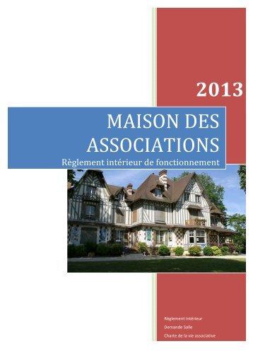 MAISON DES ASSOCIATIONS 2013 - Mairie de Vernouillet