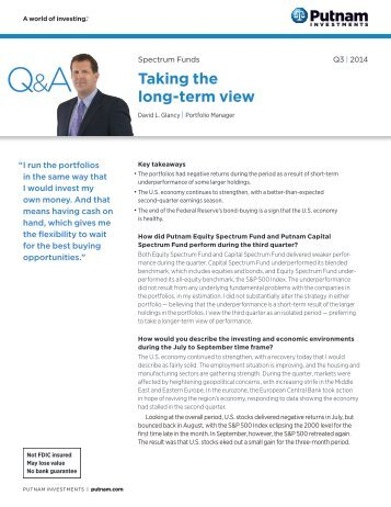 Quarterly commentary - Putnam Investments