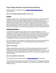 Oregon Wage Information Frequently Asked Questions