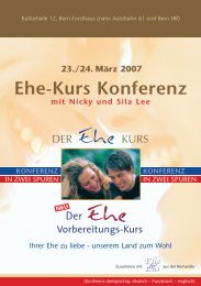 Ehe-Kurs Konferenz 2007 - Markus Dolder