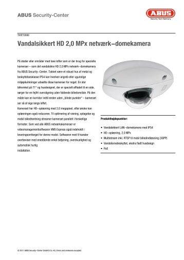 Vandalsikkert HD 2,0 MPx netværk-domekamera - Lomax.dk
