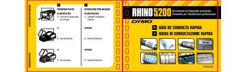 RHINO 5200 quick reference guide - Dymo