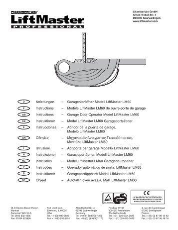 Liftmaster model LM60K/R (tekst) - Jyde Port