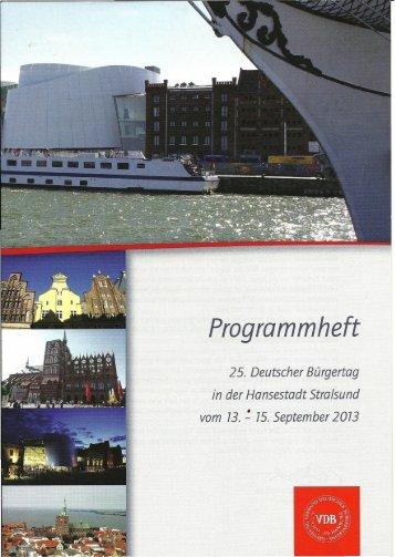 Programmheft - Verband Deutscher Bürgervereine eV