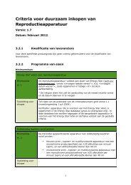 Criteria voor duurzaam inkopen van Reproductieapparatuur - Pianoo