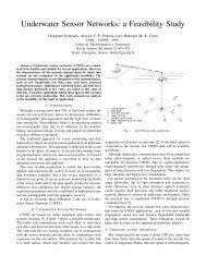 Underwater Sensor Networks: a Feasibility Study - GTA - UFRJ