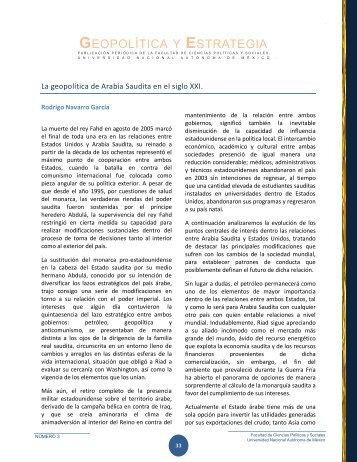 GEOPOLÍTICA Y ESTRATEGIA - Centro de Investigación e ...
