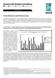 Schönfärberei statt Klimaschutz - Weed