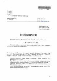 Rozhodnutí ve věci žádosti o poskytnutí informace ze - Ministerstvo ...