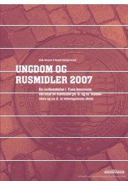 Ungdom og rusmidler i Fusa 2007 - KoRus Bergen