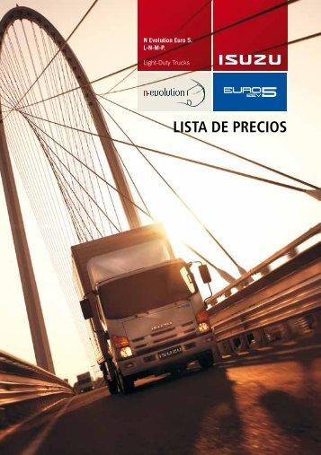 LISTA DE PRECIOS - Isuzu