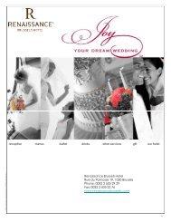 Renaissance Brussels Wedding Brochure - Marriott