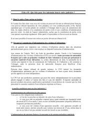 Fiche 8 : Que faire pour être indemnisé dans le cadre judiciaire ?