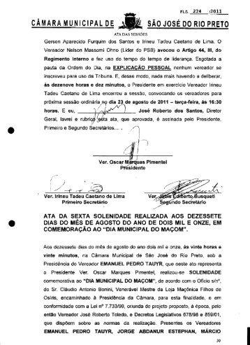 CAMARA MUNICIPAL DE SAO JOSE DO RIO PRETO
