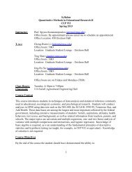 Syllabus Quantitative Methods in Educational Research II CEP 933 ...