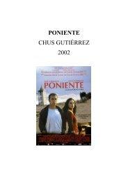 PONIENTE CHUS GUTIÉRREZ 2002 - Café des Images