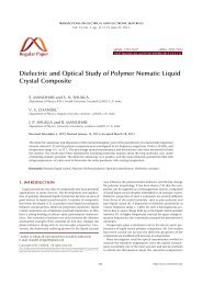 Dielectric and Optical Study of Polymer Nematic Liquid Crystal ...