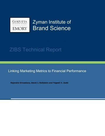 Linking Marketing Metrics to Financial Performance - Emory ...