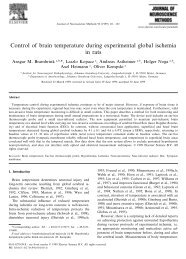 Control of brain temperature during experimental global ischemia in ...